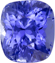 Unheated Cornflower Blue Sapphire GIA Certed Gem in Cushion Cut, 8.37 x 7.37 x 6.34 mm, 3.46 carats