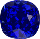 Vivid Blue Sapphire Unheated GIA Certed Loose Gem in Cushion Cut, 5.72 x 5.62 x 4.36 mm, 1.17 carats