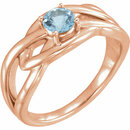 14 Karat Rose Gold Aquamarine Ring