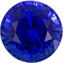 High Quality Sapphire Loose Gem in Round Cut, Velvety Blue, 6.2 mm, 1.46 carats