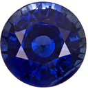 Faceted Round Cut Blue Sapphire Loose Stone in Rich Blue Color, 7.0 mm, 1.82 carats