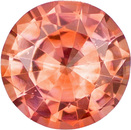 Rare Padparadscha Genuine Sapphire Round Cut Gemstone in Rich Pinkish Orange, 4.1 mm, 0.30 carats - SOLD