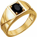 14KT Yellow Gold Onyx Men's Ring