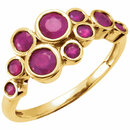 14KT Yellow Gold Ruby Bezel Set Ring