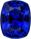 Amazing Vivid Blue Ceylon Sapphire Gem, 7 x 5.6 mm, Cushion Cut, 1.44 carats