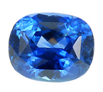 Beautiful Fiery Blue Sapphire Gemstone 5.89 carats, Cushion USA Cut for SALE