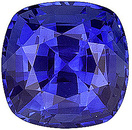 Exceptionally Fine Lovely Sapphire Stone for SALE! Intense Blue Color, Antique square Cut, 1.64 carats