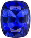 Exquisite Fiery Blue Sapphire Natural Gemstone for SALE! Cushion Cut, 1.27 carats
