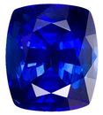 Eye Catching  Medium Rich Blue Sapphire Gemstone, Kanchan Origin - Excellent Cut, Cushion Cut, 5.01 carats - SOLD