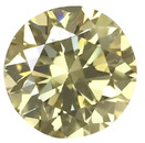 Fancy Yellow Genuine Diamonds in Round Brilliant Cut