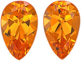 Fantastic Unheated Nigerian Spessartite Genuine Paired Gemstones for SALE! Pear Cut, 2.95 carats - SOLD