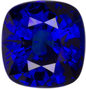 Fine+ Large Blue Sapphire Stone in Cushion Cut, Vivid Deep Blue, 10.5 x 10.0 mm, 6.07 carats - GIA Certified