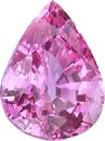 Great Price Loose Pink Sapphire Bright Gemstone in Pear Cut, Medium Intense Purplish Pink Color, 9.96 x 7.53 mm, 3.24 Carats - With GIA Certificate