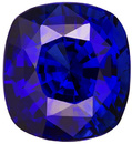 Natural Faceted Blue Sapphire Loose Stone in Cushion Cut 8.1 x 7.4 mm, 3.05 carats