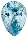 Pear Cut Blue Zircon Gemstones in Calibrated Sizes