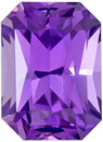 Radiant Purple Untreated Sapphire with Vivid Medium Purple Color, Super Fine Stone in 6.9 x 5.0 mm, 1.30 carats - GIC Certified