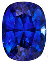 Radiant Vivid Medium Rich Blue Sapphire - Excellent Cut & Clarity, Cushion Cut, 2.15 carats