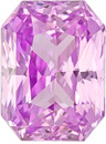 Super Impressive Radiant Cut Pink Sapphire Loose Gemstone in Desirable Light Pure Pink Color, 10.1 x 7.5 mm, 4.59 carats