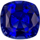 Ultra Royal Blue Sapphire Gemstone in Cushion Cut, Intense Rich Blue Color in 7.1 x 6.9 mm, 1.86 carats