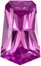 Unusual Custom Cut Pink Sapphire Stone, Deep Rich Pink Color in 8.8 x 5.5 mm, 1.67 carats