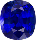 Vivid Blue Sapphire Engagement Ring Gem in Cushion Cut, Vivid Pure Blue Color in 8.4 x 7.4 mm, 2.74 carats - SOLD