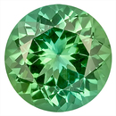 What a Deal! - Fabulous Green Tourmaline Genuine Gemstone for SALE,  Round Cut, 9 x 8.9 mm, 2.55 carats
