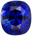 Xtreme Gem in Blue Sapphire Genuine Ceylon Gemstone - Super Rich Color in Unheated GIA Cert Cushion Cut, 5.9 x 5.2 mm, 1.16 carats