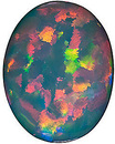 Chatham  Black Opal Oval Cut  in Grade GEM