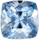 Rare & Desirable Cushion Cut Aquamarine Loose Gem, Vivid Pure Blue, 5.9 mm, 0.83 carats