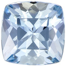 Bright & Lively Cushion Cut Aquamarine Loose Gem, Medium Rich Blue, 7 mm, 1.47 carats