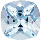 Super Pretty Cushion Cut Aquamarine Loose Gem, Medium Blue, 9 x 9 mm, 2.88 carats