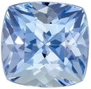 High Color Aquamarine Gemstone in Cushion Cut, Rich Pure Blue, 6.1 mm, 1.09 carats