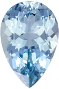 Excellent Clarity on Aquamarine Gemstone in Pear Cut, Rich Blue Color in 12.5 x 8.3 mm, 3.12 carats