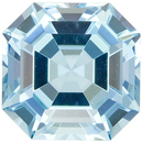 Asscher Cut Aquamarine Gemstone in Medium Rich Blue, 6.9 mm, 1.54 carats