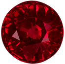 4.3 mm, 0.45 carats Beautiful Round Cut Ruby Loose Gem, Rich Red in Fiery Round Cut