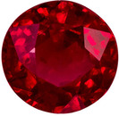 0.56 carats Bargain Ruby Loose Gem, Vivid Red, 4.8 mm in Round Shape