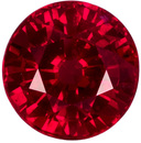 0.59 carats Fiery Gem Round Ruby Loose Gem, Open Rich Red Color in 4.6 mm Round