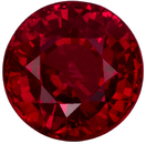 1.32 carats Gorgeous Crystally Round Cut Ruby Loose Gem, Intense Rich Red, 5.9 mm Round