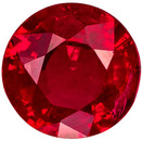 Good Buy on Ruby Gemstone in Round Cut, Vivid Rich Red, 4.9 mm, 0.5 carats