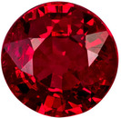 0.55 carats Very Bright Ruby Gemstone in Rich Red Color, 4.8 mm ROund Cut