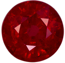 5.0 mm, 0.75 carats Ruby Gemstone in Round Cut, Vivid Open Red Round
