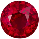 5.3 mm, 0.74 carats Super Bright Ruby Gemstone in Intense Open Red Round Stone