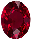 2.17 carats Special Ruby Gemstone in Intense Pure Red Color Oval Cut in 8.6 x 6.5 mm with CIG Certificated