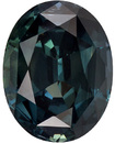 4.32 carats Blue Green Sapphire Gemstone in Deep Teal Blue Green Color in 10.8 x 8.4 mm Oval Shape