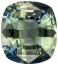Bright & Lively Untreated Cushion Cut Blue Green Sapphire Loose Gem, Open Blue Green, 6.3 x 5.6 mm, 1.02 carats - GIA Certified