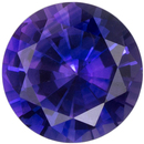 Lovely Purple Sapphire Gemstone in Round Cut, Rich Royal Purple, 5.4 mm, 0.67 carats