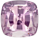 Silver Tinged Baby Pink, 7 mm, 1.85 carats Very Pretty Pink Spinel Gemstone in Cushion Cut