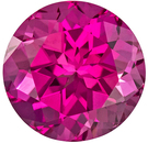 Hot Pink Tourmaline Loose Gem in Round Cut, Pure Rich Pink, 6.9 mm, 1.44 carats