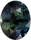 Highly Requested Untreated GIA Certified Oval Cut Blue Green Sapphire Loose Gem, Teal Blue Green, 8.9 x 7 mm, 2.2 carats