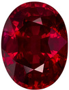 Collector Quality GRS Certified Ruby Loose Gem in Oval Cut, Vivid Pure Red Color, 11 x 8.5 mm, 5.09 carats